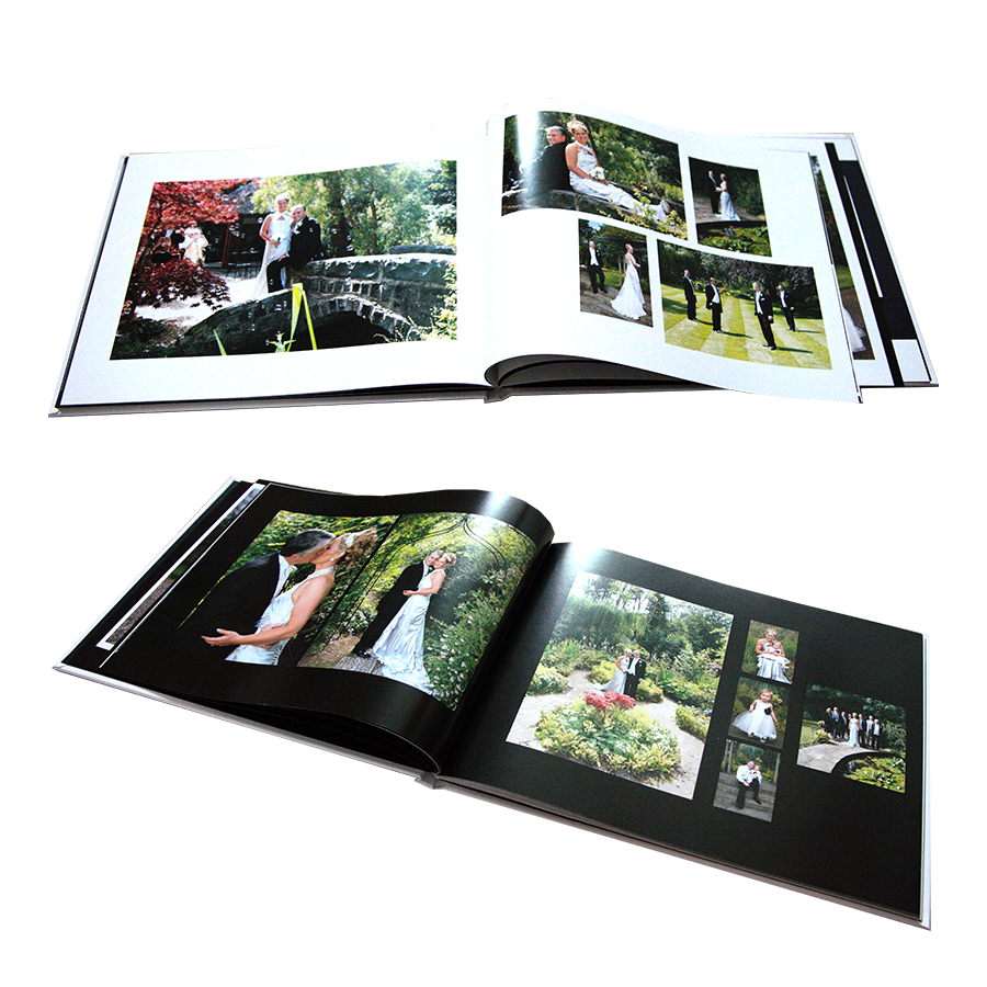 Wedding photobooks - white and black